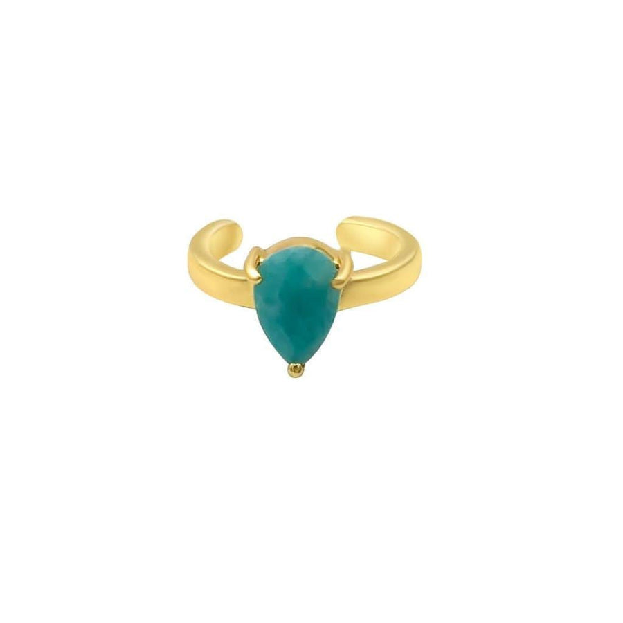 Amazonite Ear Cuff Gold
