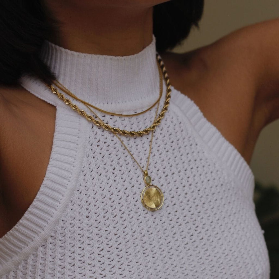 Golden Layering Necklace Trio