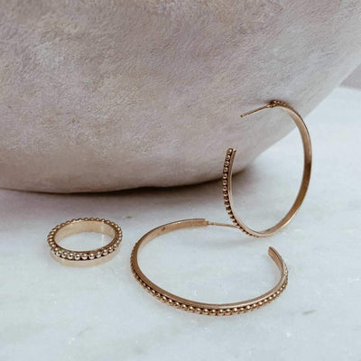 Thalia Medium Size Hoops Gold