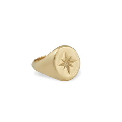Zeus Star Signet Ring - Gold