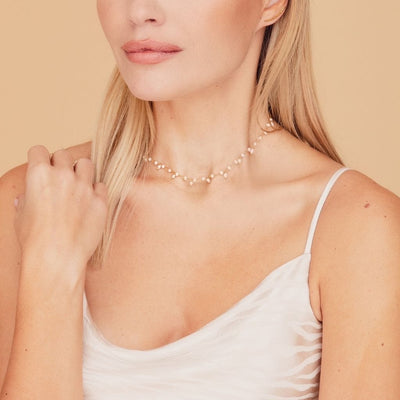 Cannes Pearl Gold Choker