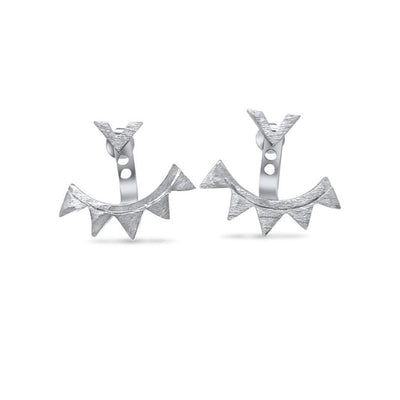 Dubai Ear Jackets - Silver