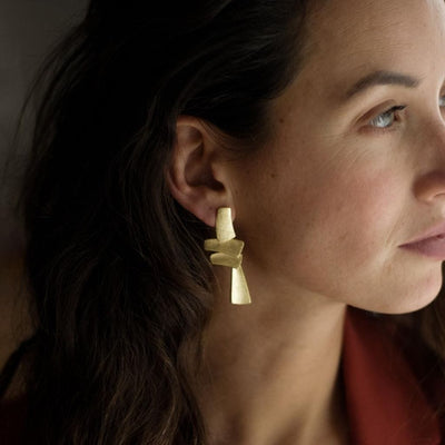 Tokyo Statement Earrings - Gold