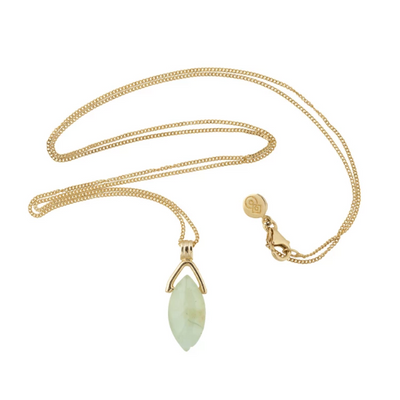 Venus Necklace - Prehnite Gemstone Gold