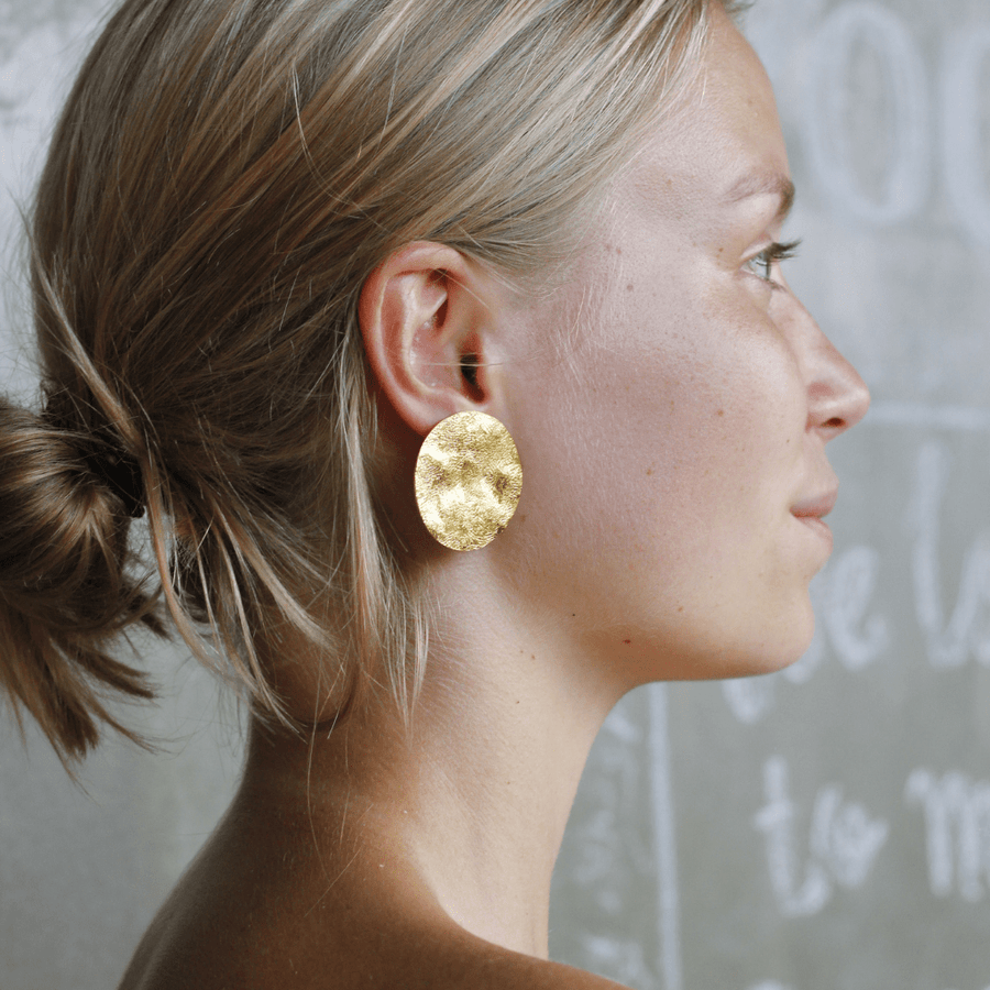New York Earrings - Gold Vermeil