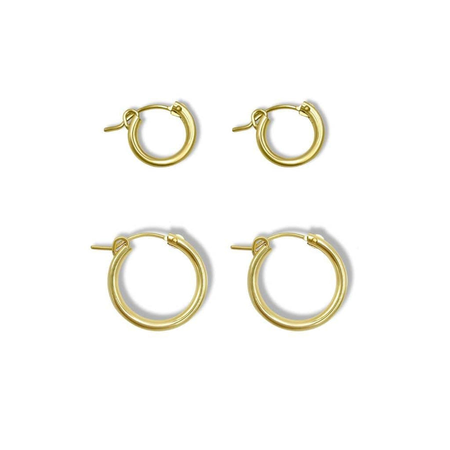 Double Gold-Filled Hoops
