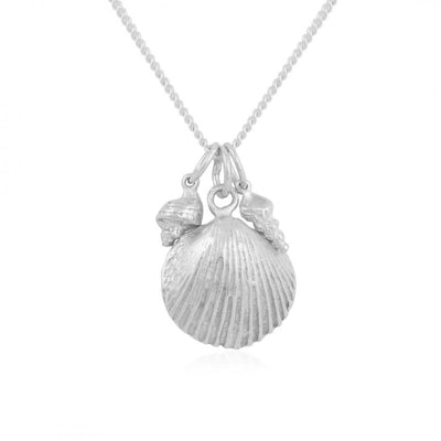 California Shells Layering Necklace - Silver