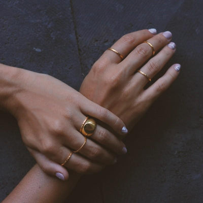 Istanbul Thin Stacking Ring - Gold