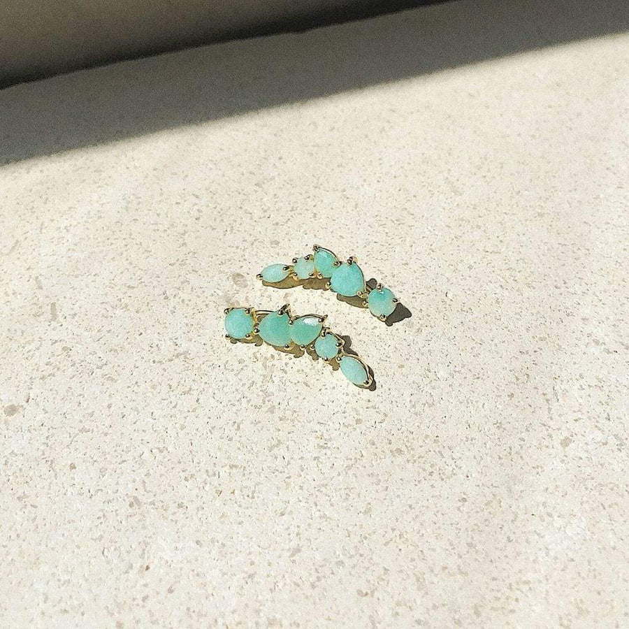 Mykonos Amazonite Ear Climbers