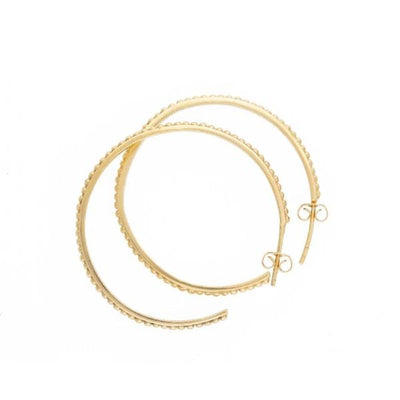 medium size hoops gold