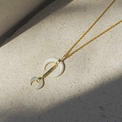 Van Gogh Moon Necklace