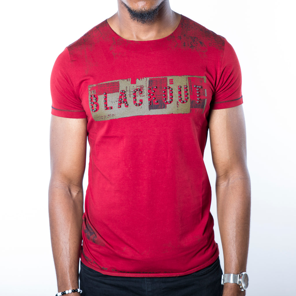 T-shirt Homme Blackout Rouge - Sleetch.com