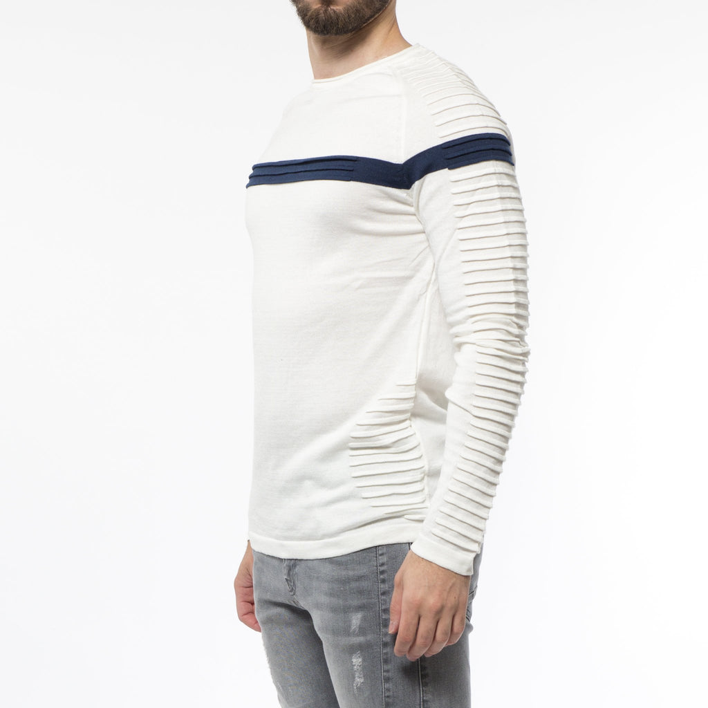 SOLDES H - Pull Homme Blanc 9002 - Sleetch.com