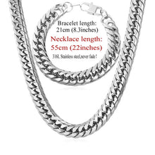 Precious Men's Cuban Link Chain Bracelet Set