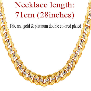 Elegant Men's Two Tone Gold Chain