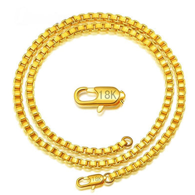 Exceptional 18K Gold Box Chain Necklace