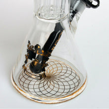 "13.5"" Phoenix Beaker Bong With Downstem Double 6-Arm Tree Percs And 3-Prong Ice Catcher"