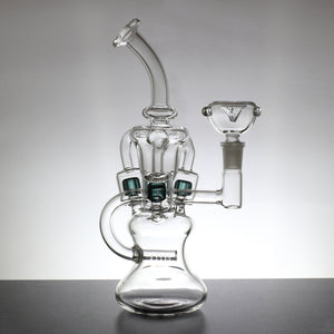 "10"" Recycler Bong with Inline and Multi-Chamber Triple Slit Percolators - Lazy Panda"
