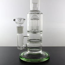 "12"" Bong with Honeycomb 8-Arm Tree and Dome Percolators - Lazy Panda"