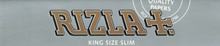 Rizla+ Silver King Size Slim Smoking Rolling Paper - 1 Box (50 Booklets)