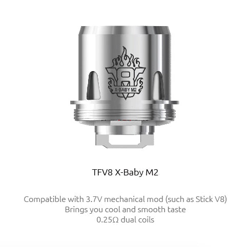 SMOK TFV8 X-Baby M2 Coil - Pack Of 3
