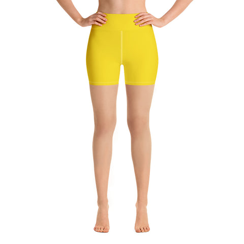 Yoga Shorts Medium Yellow.
