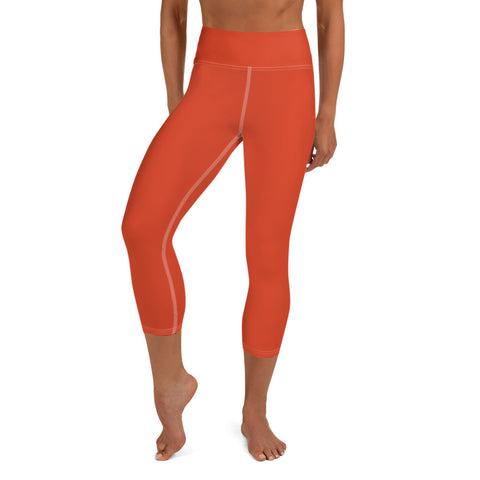 Yoga Capri Leggings Tangerine Tan.