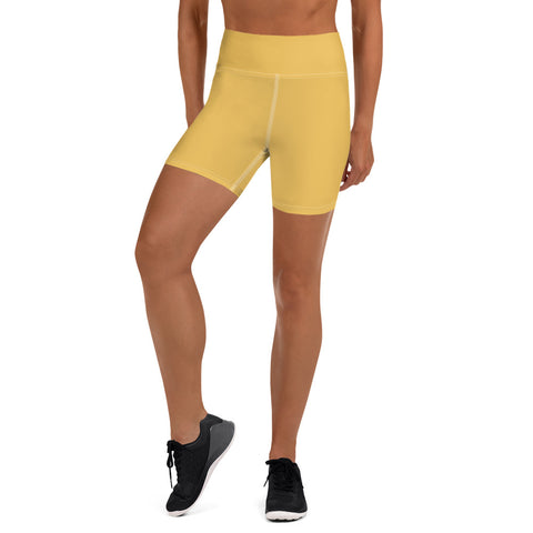 Yoga Shorts Mimosa Yellow.