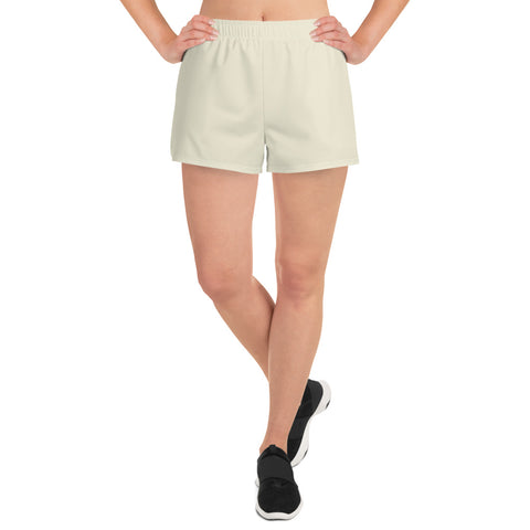 Women's Athletic Short Shorts Sweet White.