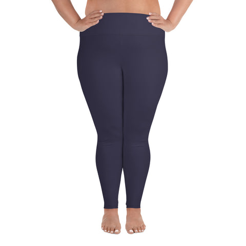 All-Over Print Plus Size Leggings Eclipse Gray