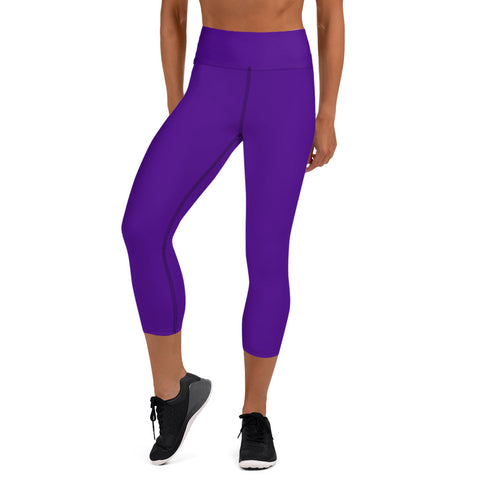 Yoga Capri Leggings Medium Purple.