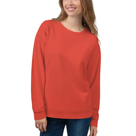 Unisex Sweatshirt  Fiesta Red.