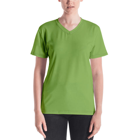Women's V-neck  Greenery Green.
