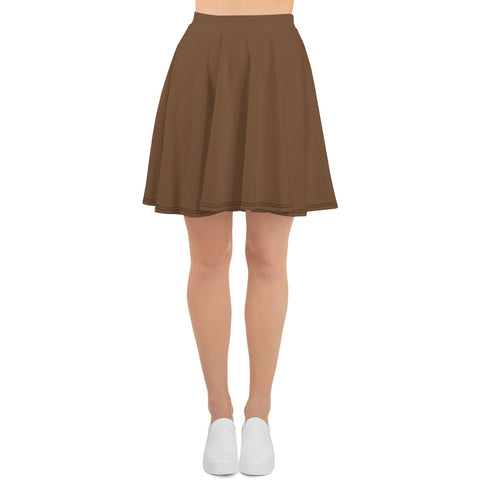 Skater Skirt  Toffee Brown.