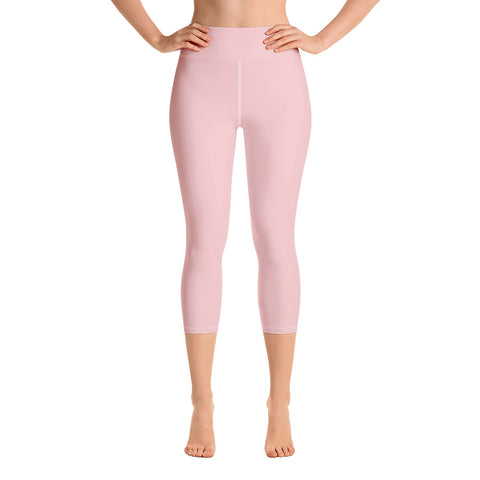 Yoga Capri Leggings Rose Pink.