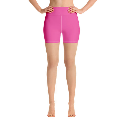 Yoga Shorts Bright Pink.