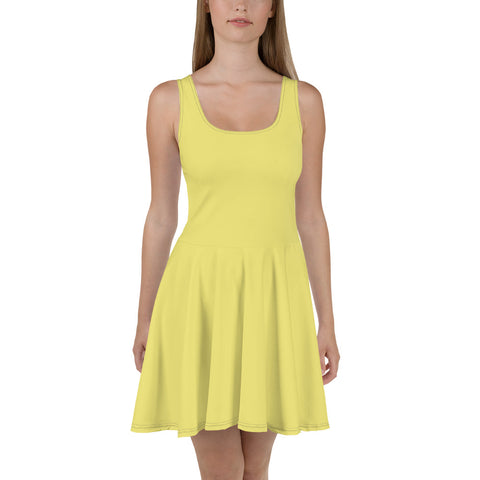 Skater Dress Lemon Yellow.