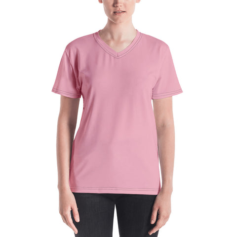 Women's V-neck Salmon.