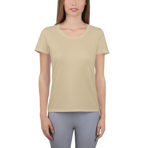 All-Over Print Women's Athletic T-shirt Soybean.