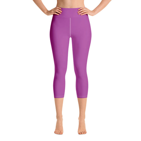Yoga Capri Leggings Purple.