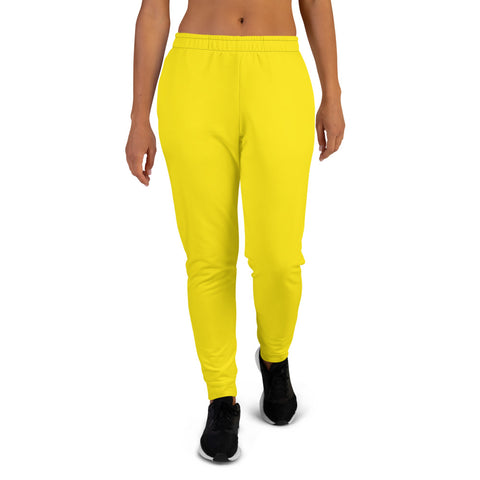 Women's Joggers Bright Yellow.