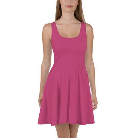 Skater Dress Fuschia Pink.