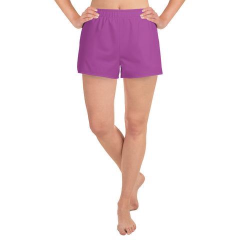 Women's Athletic Short Shorts Purple.