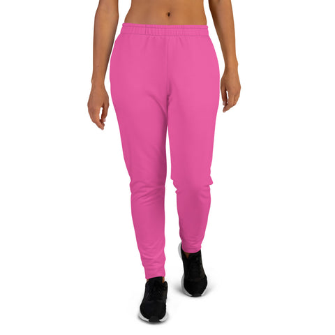 Women's Joggers Bright Pink.