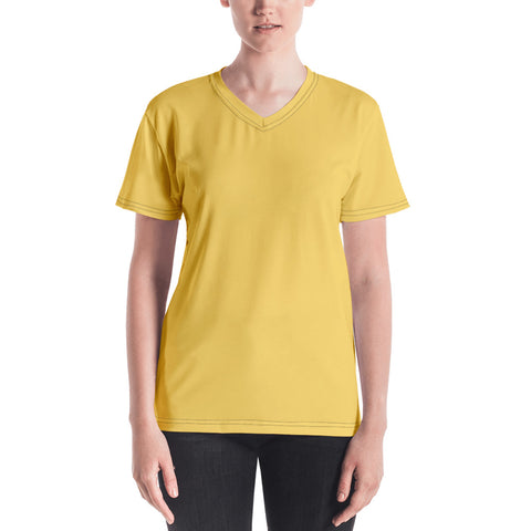 Women's V-neck Gold.