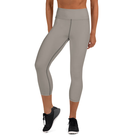 Yoga Capri Leggings Medium Gray.