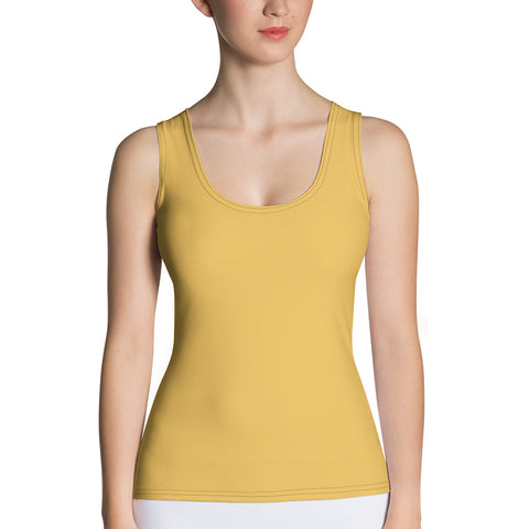 Sublimation Cut & Sew Tank Top Mimosa Yellow.