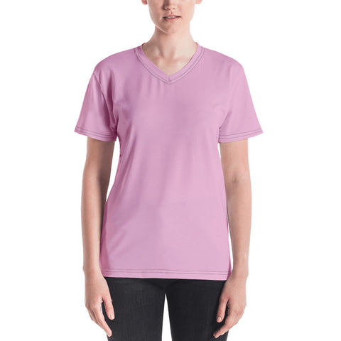Women's V-neck Light Magenta.