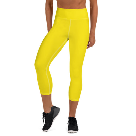 Yoga Capri Leggings Bright Yellow.