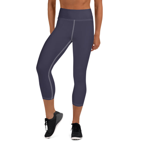 Yoga Capri Leggings Eclipse Gray.